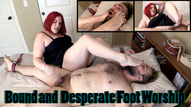 Bound and Desperate Foot Worship video from MissFreudianSlit