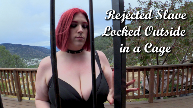 Rejected Slave Locked Outside in a Cage video by MissFreudianSlit