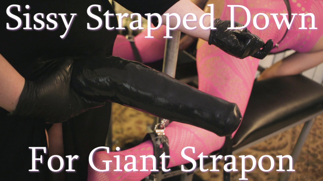 Sissy Strapped Down for Giant Strapon video by MissFreudianSlit