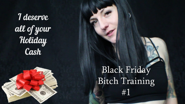 Black Friday Bitch Training 1 video from Miss Ivy Ophelia
