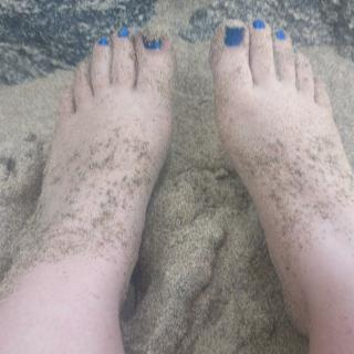 Sandy Outdoor Feet photo gallery by Miss Koko