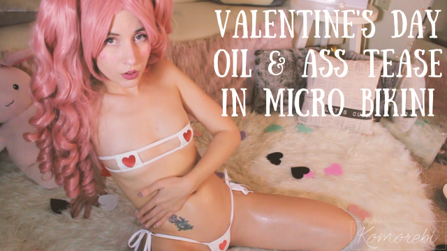 Oil and Ass Tease in Micro Bikini video by MissKomorebi