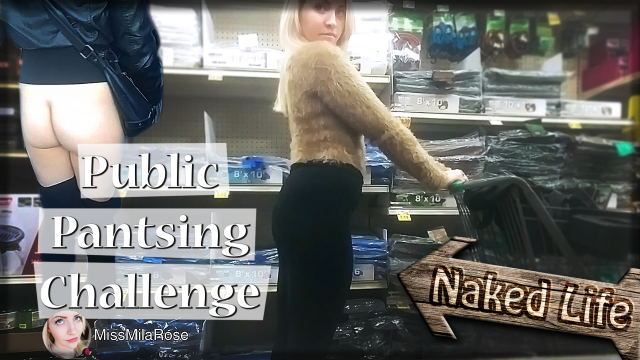 Public Pantsing Challenge III video from MissMilaRose