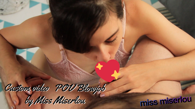 POV Blowjob, Cumshot, Facial - custom video from Miss Miserlou
