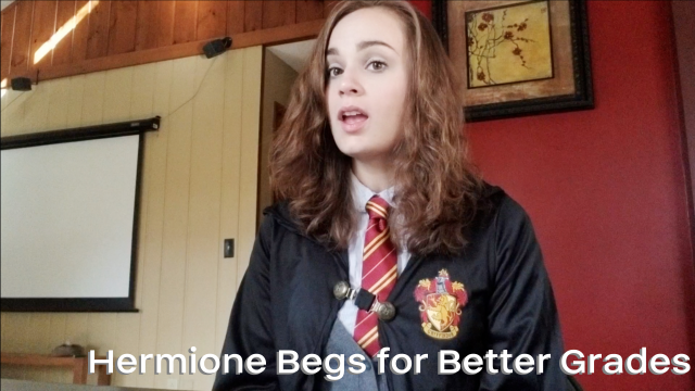 Hermione Begs for Better Grades video from Nina Crowne