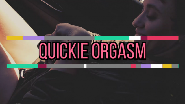 Quickie Orgasm video from Onyx Rose