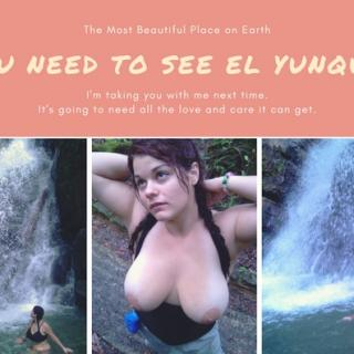 Flashing on a hike and under a Waterfall photo gallery by Penny Plush