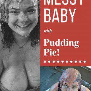 Messy Baby with Pudding Pie photo gallery by Penny Plush