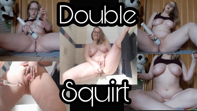 NO MAKEUP DOUBLE SQUIRT SHOW video by RealCurvesLA