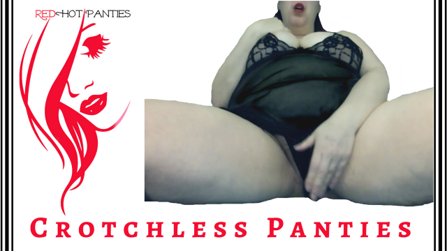 BLACK CROTCHLESS PANTIES video from RedHot Panties