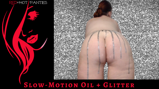 SLOW MOTION OIL + GLITTER video by RedHot Panties
