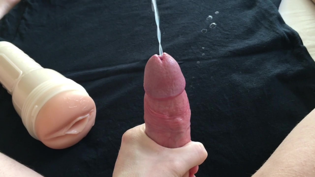 Fleshlight jerkoff with big cumshot video from Retronova