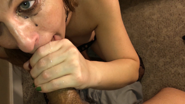 Gagging on a Big Black Cock video from TSRyley