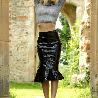 Fishtail PVC Skirt Outdoor Striptease photo gallery by Sammie Cee