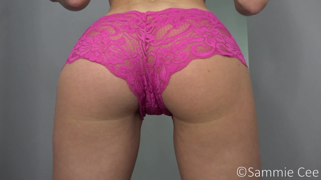 Panty Modelling And Stuffing video from Sammie Cee