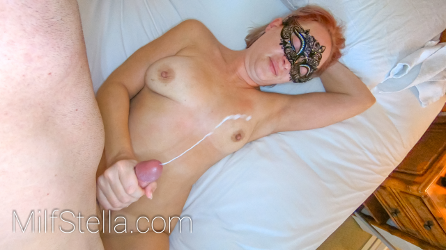 PRONE BONE & ACCIDENTAL FACIAL - REDHEAD TEEN MILF STELLA IN THONG PANTIES video from SexWithMilfStella
