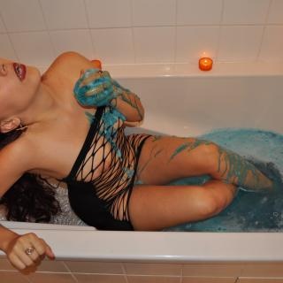 Blue bath photo gallery by Sexy Margaux