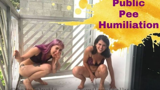 Public Pee Humiliation Sally and Katnip video from Sally Smiles