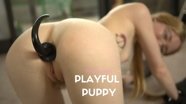 Playful Puppy: Pet Girl Masturbation video from Petite Nymphet