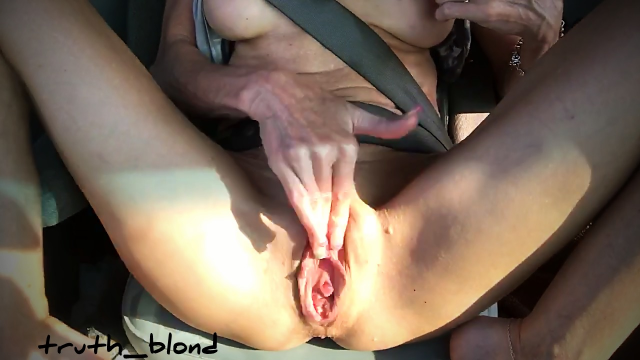 Cumming in Car Fucking Fingering Pulsating Pussy video by Truth Blond