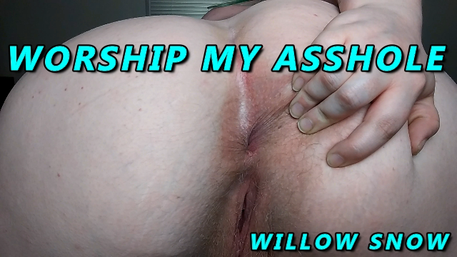 BBW goddess asshole worship video from WillowSnow